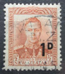 Poštovní známka Nový Zéland 1953 Král Jiøí VI. pøetisk Mi# 327