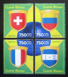 Poštovní známky Guinea-Bissau 2014 MS ve fotbale, skupina E Mi# 7202-05 Kat 12€
