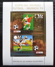 Poštovní známky Rovníková Guinea 1973 MS ve fotbale, zlatá Mi# Block 82 Kat 17€