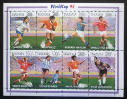 Poštovní známky Tanzánie 1994 MS ve fotbale Mi# 1713-20 Kat 16€