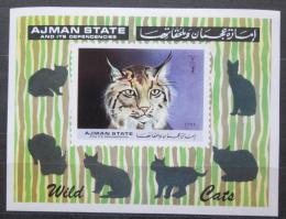 Poštovní známka Adžmán 1971 Koèky Mi# Block 360 Kat 12€