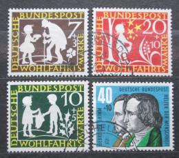 Poštovní známky Nìmecko 1959 Pohádky bratøí Grimmù Mi# 322-25 Kat 7.50€