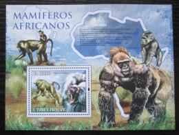 Poštovní známka Svatý Tomáš 2010 Opice Mi# Block 768 Kat 8€