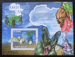 Poštovní známka Svatý Tomáš 2010 Netopýøi Mi# Block 771 Kat 8€