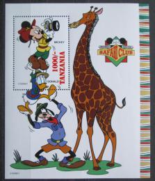 Poštovní známka Tanzánie 1994 Disney, Safari Mi# Block 268