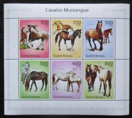 Poštovní známky Guinea-Bissau 2010 Konì, mustangové Mi# 4993-98 Bogen Kat 12€