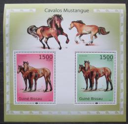 Poštovní známky Guinea-Bissau 2010 Konì, mustangové Mi# Block 863 Kat 12€