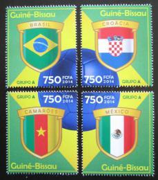 Poštovní známky Guinea-Bissau 2014 MS ve fotbale, skupina A Mi# 7186-89 Kat 12€