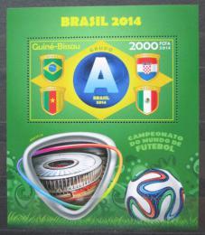 Poštovní známka Guinea-Bissau 2014 MS ve fotbale, skupina A Mi# Block 1256 Kat 8€