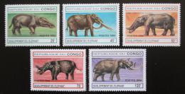 Poštovní známky Kongo 1994 Vývoj slonù Mi# 1412-16 Kat 11€