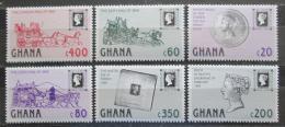 Poštovní známky Ghana 1990 Penny Black, 150. výroèí Mi# 1374-79 Kat 12€