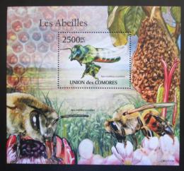 Poštovní známka Komory 2011 Africké vèely Mi# Block 622 Kat 13€