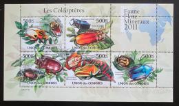 Poštovní známky Komory 2011 Brouci Mi# 2965-69 Kat 13€