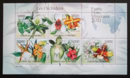 Poštovní známky Komory 2011 Orchideje Mi# 2953-57 Bogen Kat 12€