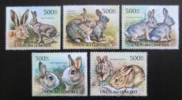 Poštovní známky Komory 2011 Králíci Mi# 3048-52 Kat 12€