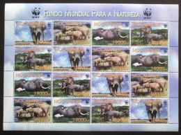 Poštovní známky Mosambik 2002 Slon africký, WWF Mi# 2393-96 Bogen Kat 30€