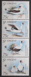 Poštovní známky Svatý Vincenc 1995 Terej maskový, WWF Mi# 3073-76