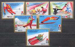 Poštovní známky Adžmán 1971 ZOH Sapporo Mi# 1230-35