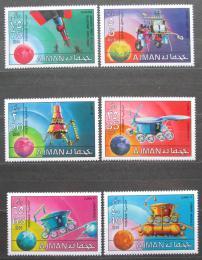 Poštovní známky Adžmán 1971 Prùzkum vesmíru Mi# 1216-21