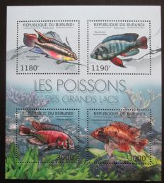 Poštovní známky Burundi 2012 Ryby Mi# 2778-81 Kat 10€