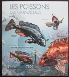 Poštovní známka Burundi 2012 Ryby Mi# Block 280 Kat 9€