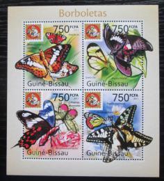 Poštovní známky Guinea-Bissau 2011 Motýli Mi# 5429-32 Kat 12€