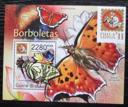 Poštovní známka Guinea-Bissau 2011 Motýli Mi# Block 933 Kat 9€