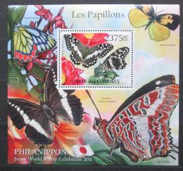 Poštovní známka Komory 2011 Motýli Mi# Block 620 Kat 12€