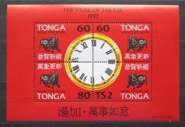 Poštovní známky Tonga 1997 Èínský nový rok, rok vola Mi# Block 28 Kat 11€