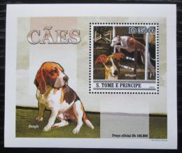 Poštovní známka Svatý Tomáš 2010 Psi DELUXE Mi# 4647 Block