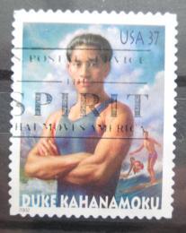 Poštovní známka USA 2002 Duke Kahanamoku, olympionik Mi# 3634