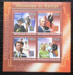 Poštovní známky Togo 2011 Evropští monarchové Mi# 3993-96 Kat 12€