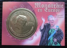 Poštovní známka Togo 2011 Dánská královna Markéta II. Mi# Block 608 Kat 12€