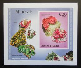 Poštovní známka Guinea-Bissau 2010 Minerály DELUXE neperf Mi# 4989 B Block