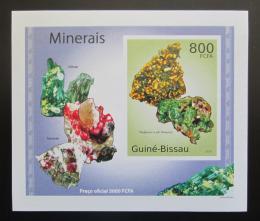 Poštovní známka Guinea-Bissau 2010 Minerály DELUXE neperf Mi# 4990 B Block