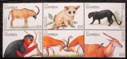 Poštovní známky Gambie 1996 Místní fauna Mi# 2331-36 Kat 7€