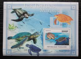 Poštovní známka Togo 2011 Želvy Mi# Block 588 Kat 12€