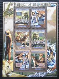 Poštovní známky Guinea 2008 Koèkovité šelmy Mi# 5589-94 Kat 12€