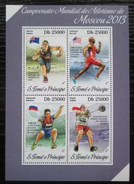Poštovní známky Svatý Tomáš 2013 MS v lehké atletice Mi# 5451-54 Kat 10€