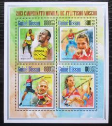 Poštovní známky Guinea-Bissau 2013 MS v lehké atletice Mi# 6966-69 Kat 13€