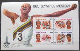 Poštovní známky Tanzánie 1980 LOH Moskva Mi# Block 23