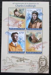 Poštovní známky Niger 2014 Charles Lindbergh, letadla Mi# 2667-70 Kat 10€