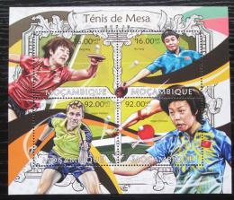 Poštovní známky Mosambik 2013 Stolní tenis Mi# 6359-62 Kat 13€