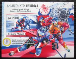 Poštovní známka Svatý Tomáš 2016 MS v ledním hokeji Mi# Block 1249 Kat 12€