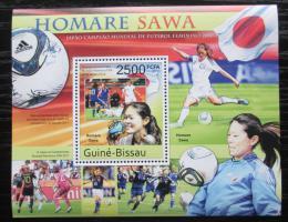 Poštovní známka Guinea-Bissau 2011 Homare Sawa, fotbalistka Mi# Block 951 Kat 10€