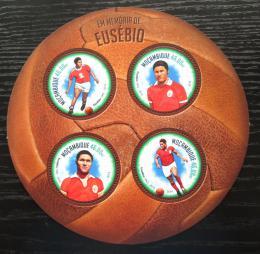 Poštovní známky Mosambik 2014 Eusebio, fotbalista Mi# 7235-38 Kat 11€