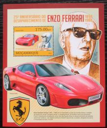 Poštovní známka Mosambik 2013 Auta Ferrari Mi# Block 756 Kat 10€