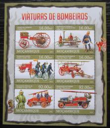 Poštovní známky Mosambik 2013 Hasièi Mi# 6623-28 Kat 14€