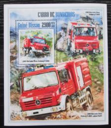 Poštovní známka Guinea-Bissau 2013 Hasièská auta Mi# Block 1207 Kat 12€
