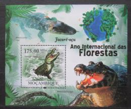 Poštovní známka Mosambik 2011 Kajman èerný Mi# Block 410 Kat 10€